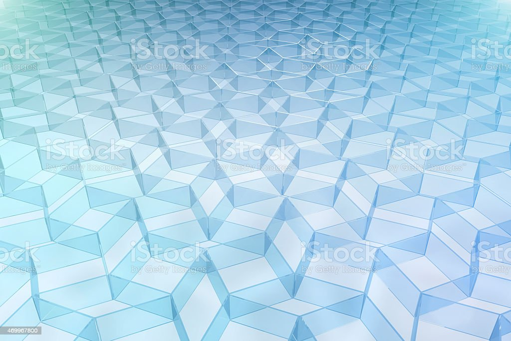 Transparent glass pattern background with 3D shapes and light vector art illustration