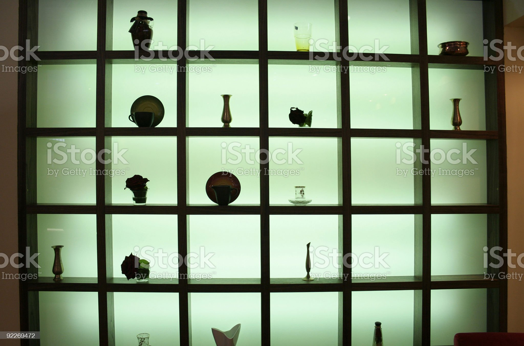 transparent glass wood partition royalty-free stock photo