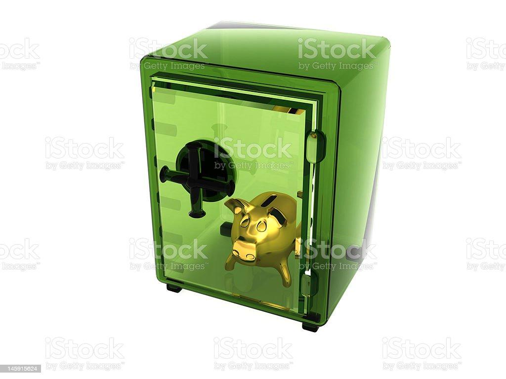 transparent green safe royalty-free stock photo