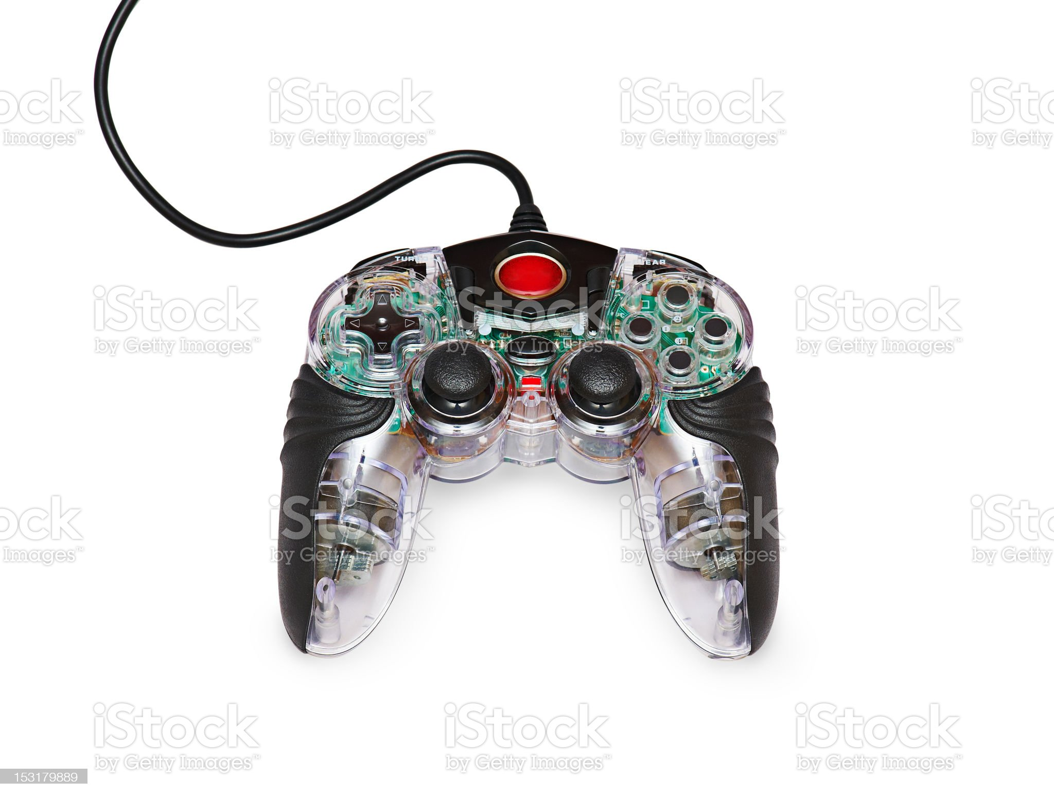 Transparent joystick for games royalty-free stock photo