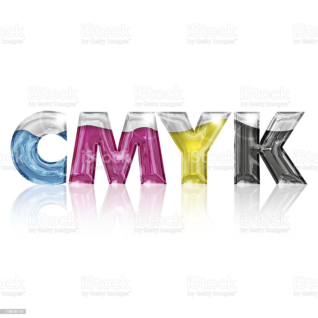 transparent letters cmyk royalty-free stock photo