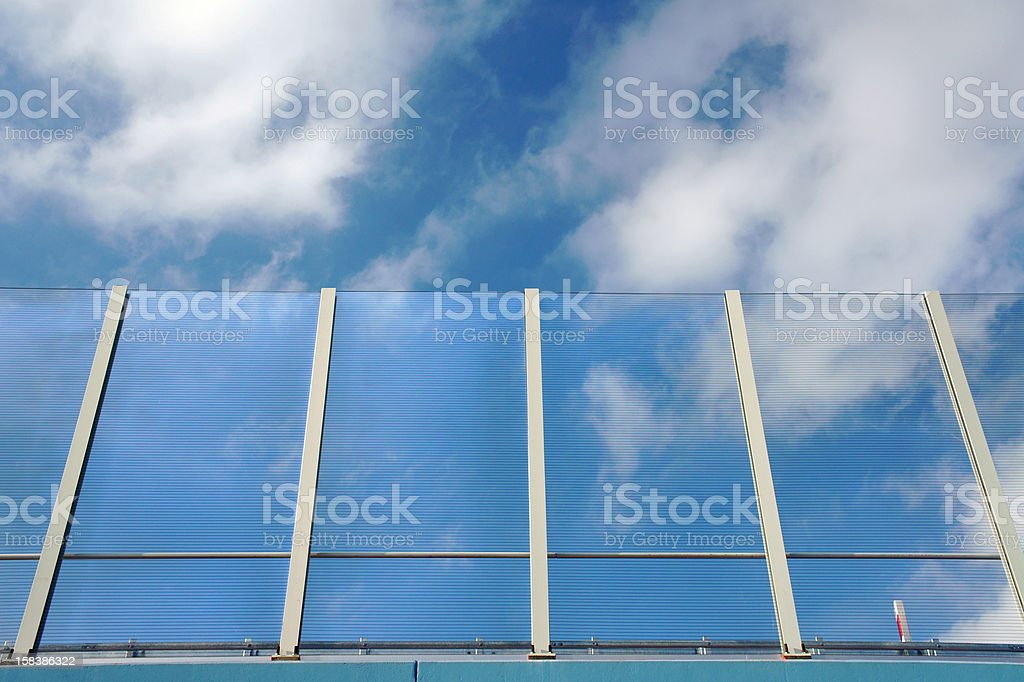 transparent noise barrier royalty-free stock photo