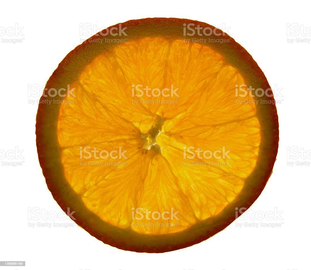 Transparent Orange royalty-free stock photo