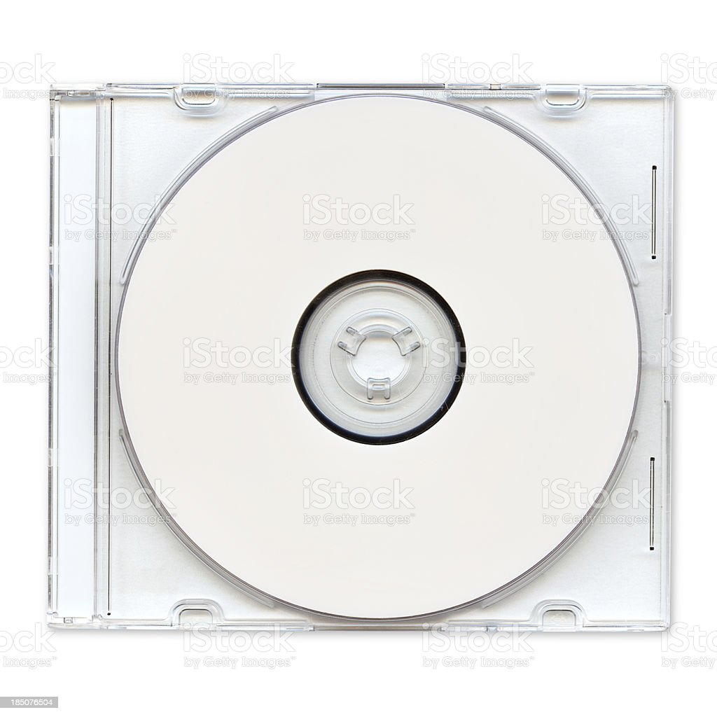 Transparent photo of a cd in a clear case stock photo