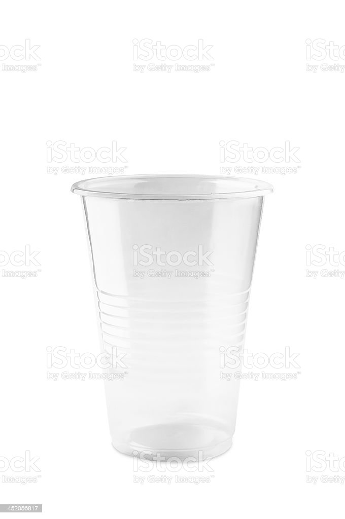 Transparent Plastic Glass stock photo