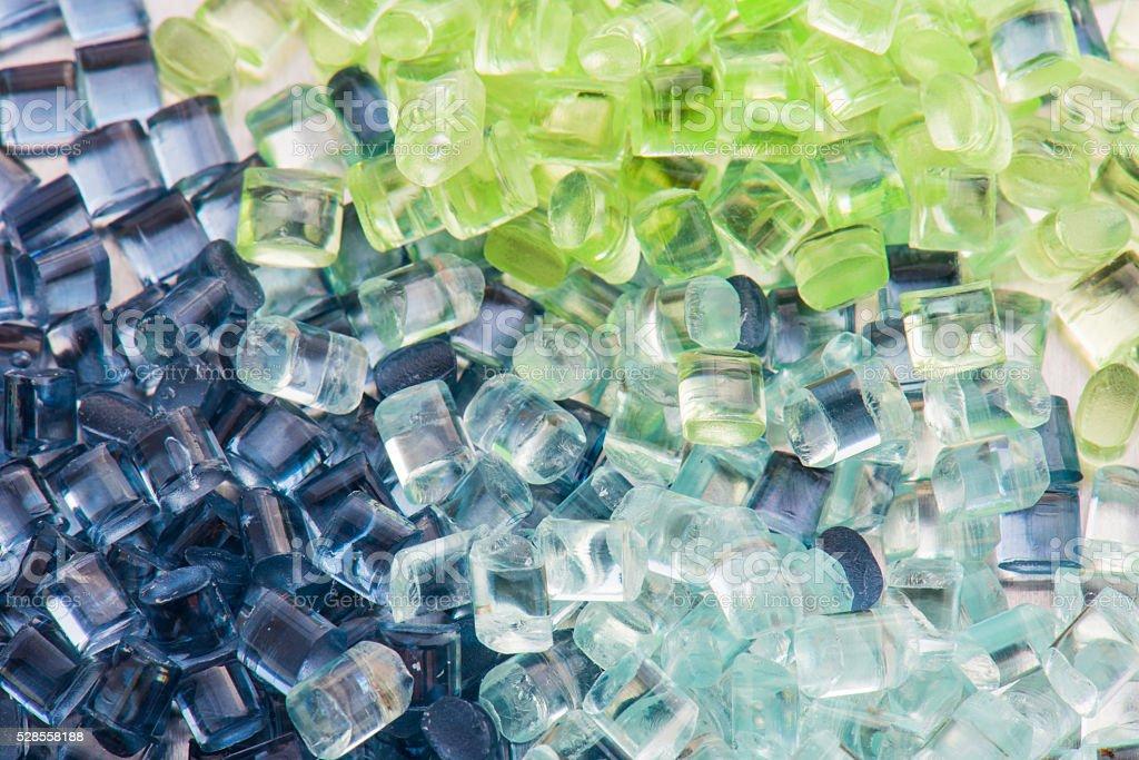 transparent plastic resin stock photo