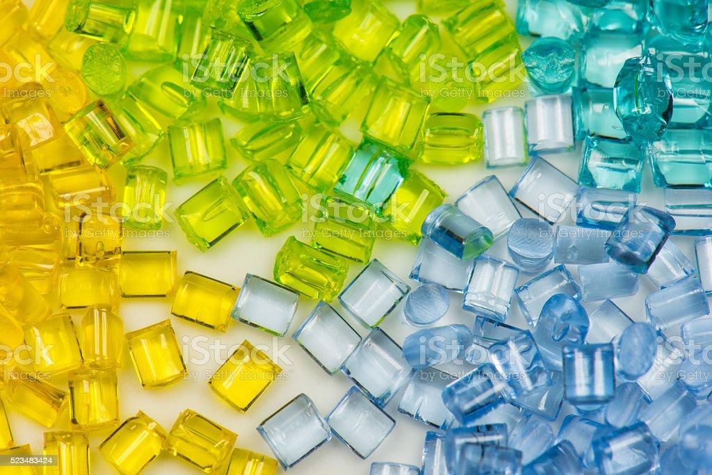 transparent polymer resin stock photo