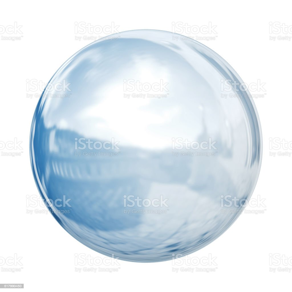 Transparent shpere stock photo
