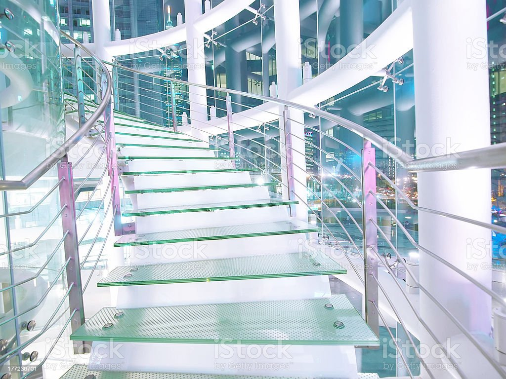Transparent staircase royalty-free stock photo