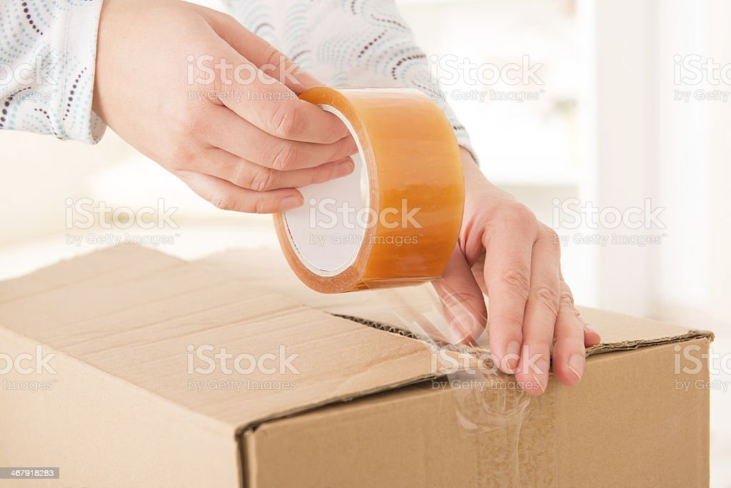 Transparent tape stock photo