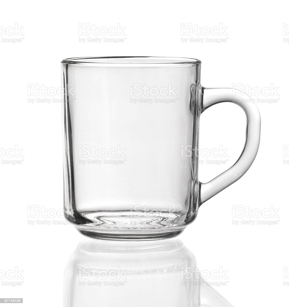 transparent teacup made of glass royalty-free stock photo