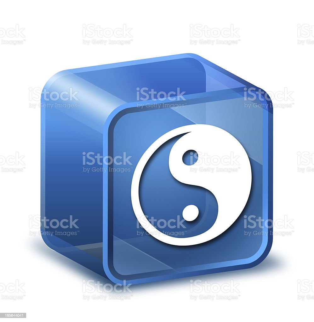 Transparent to the 3d icon stock photo