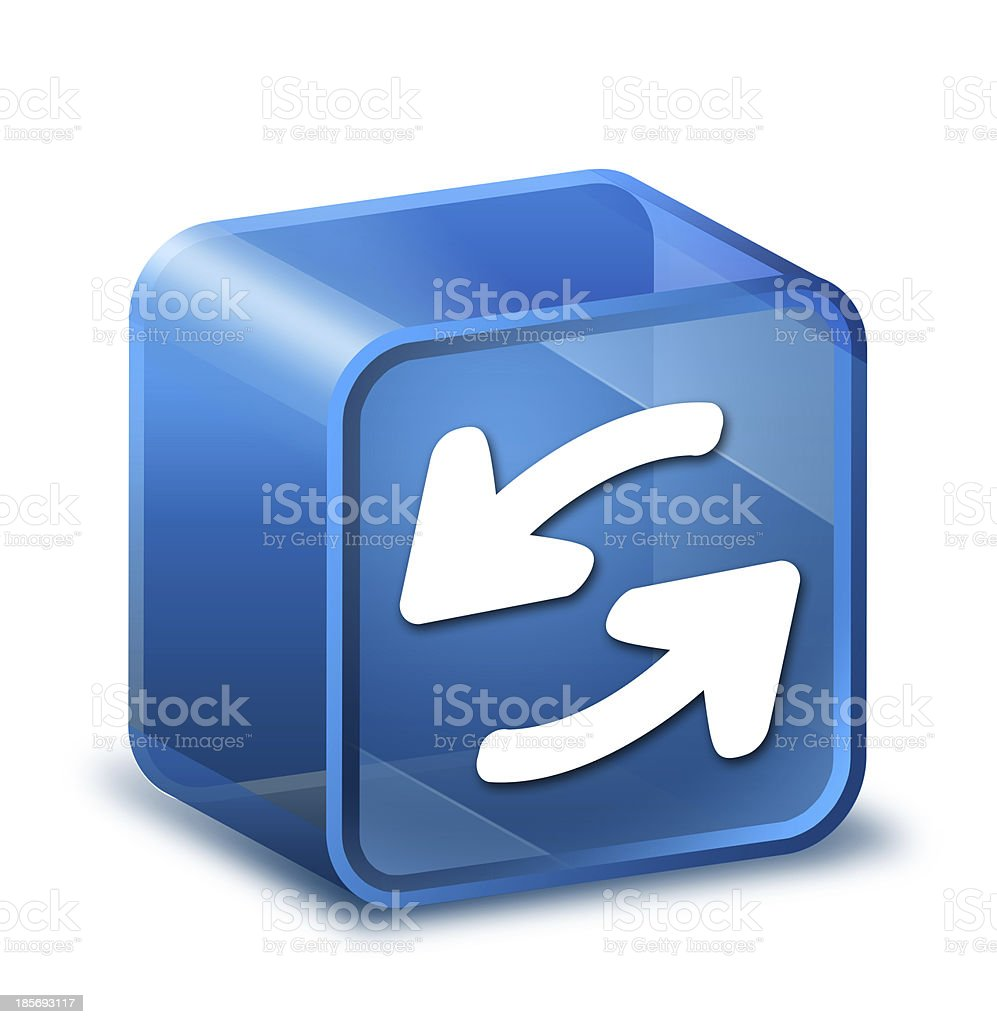 Transparent to the 3d icon royalty-free stock photo