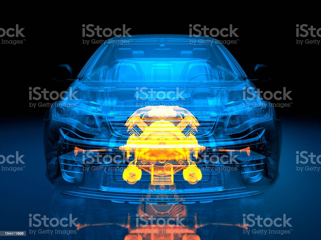 Transparent vehicle stock photo