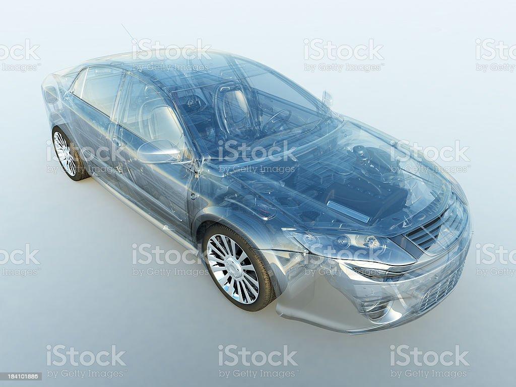 Transparent vehicle royalty-free stock photo