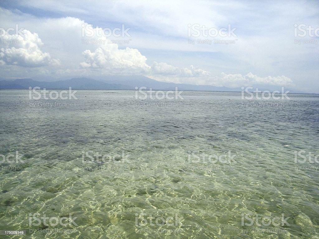 Transparent water at Nusa Lembongan, Indonesia royalty-free stock photo
