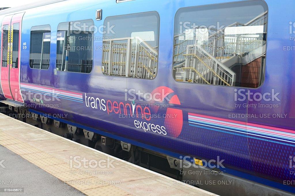 Transpennine Express Train stock photo