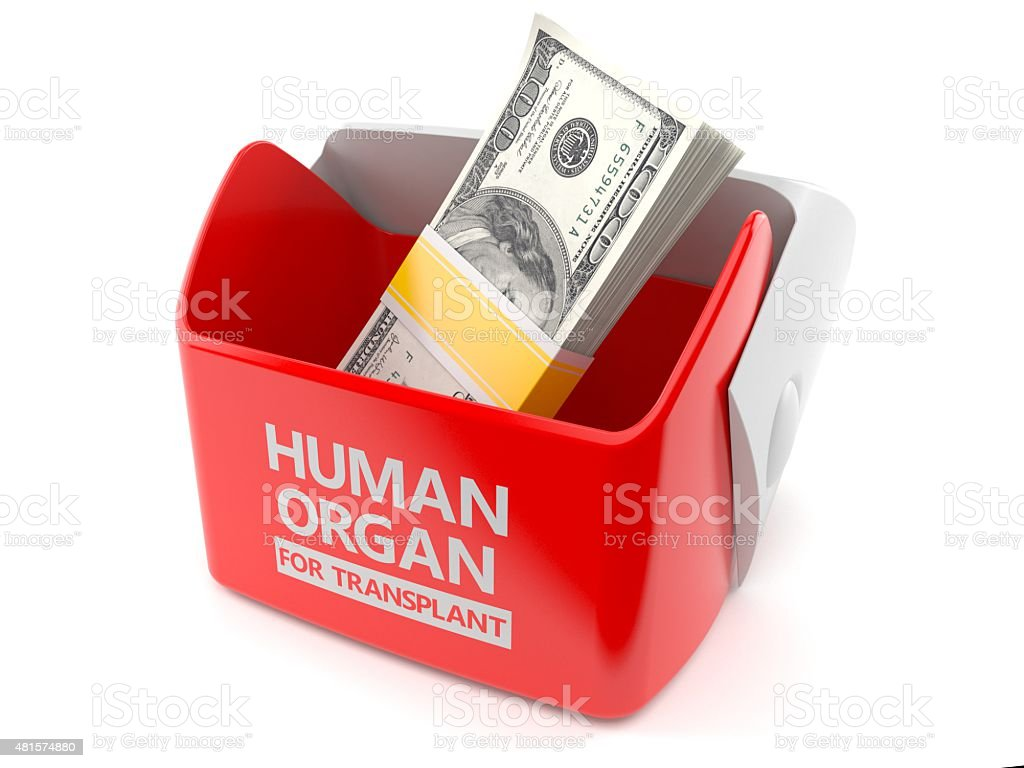 Transplant finance stock photo