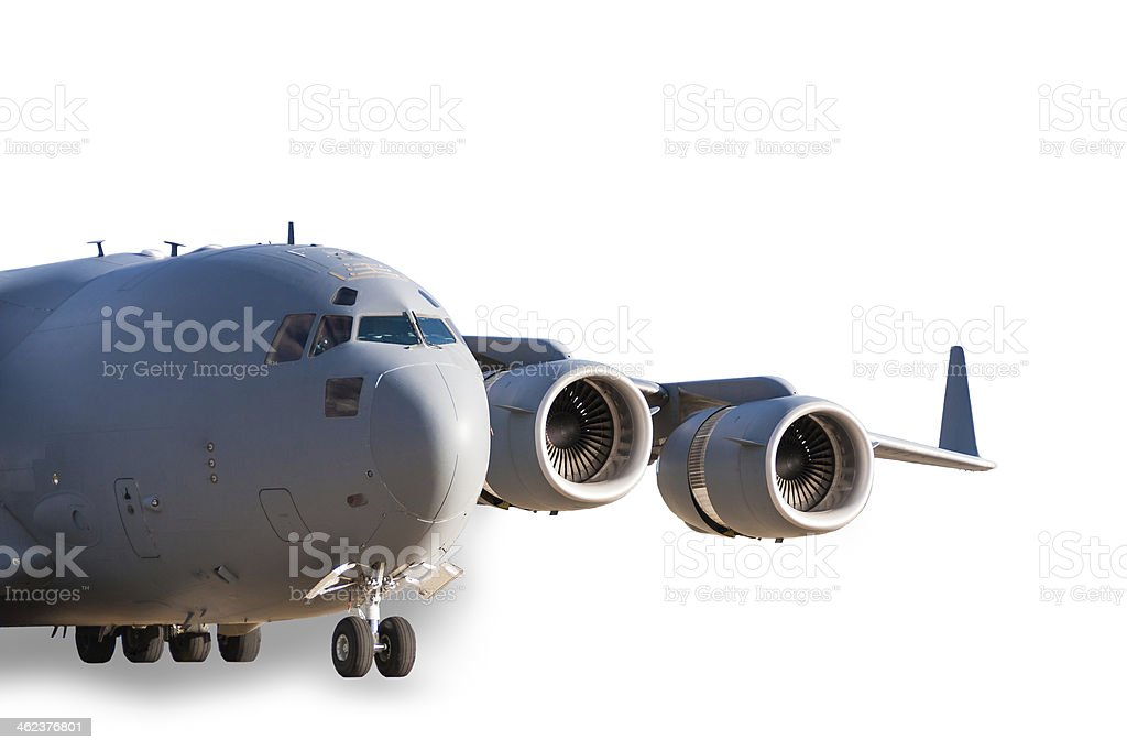 Transport aircraft stock photo