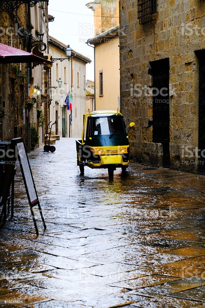 Transport Buggy in Volterra stock photo