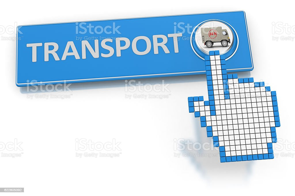 Transport - Button stock photo