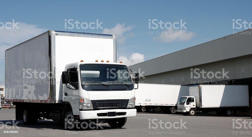 Transport company. stock photo