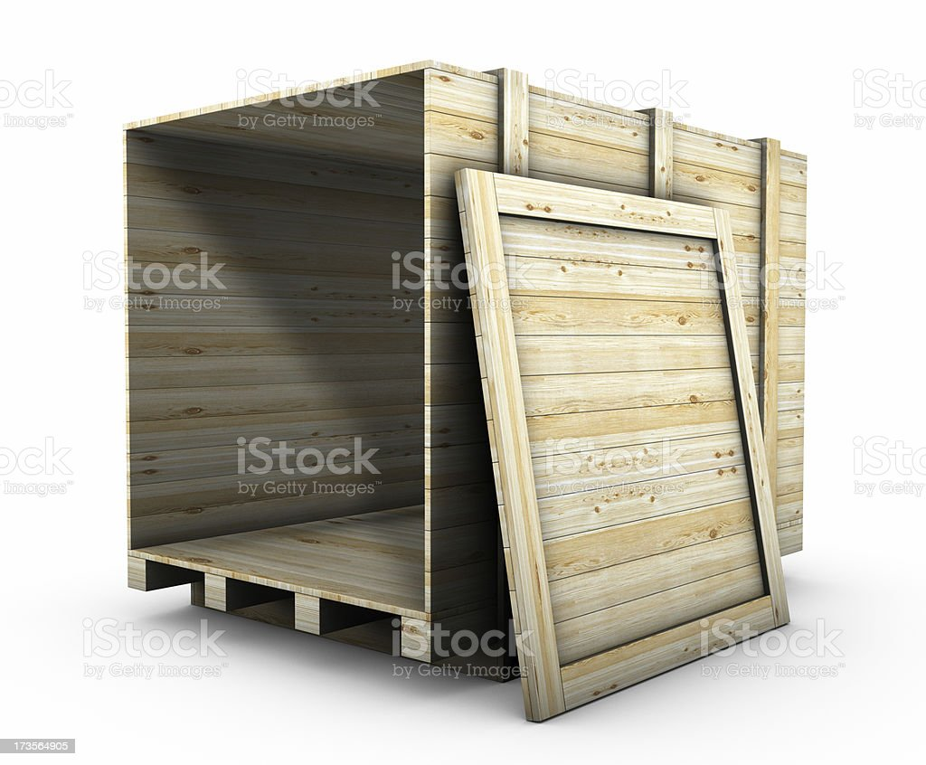 Transport Crate royalty-free stock photo