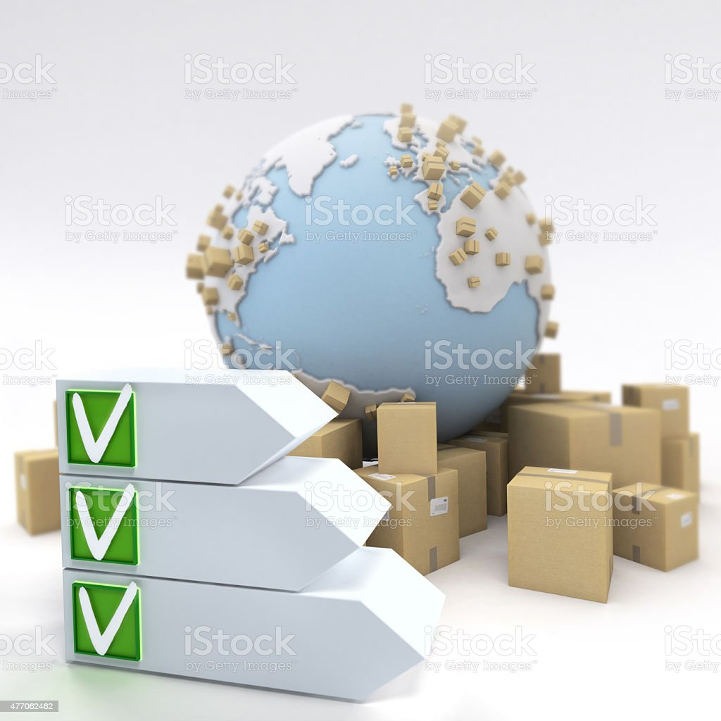 Transport delivery checklist stock photo