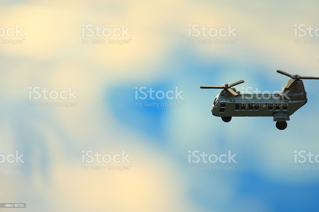 Transport Helicoper Flying The Skies stock photo