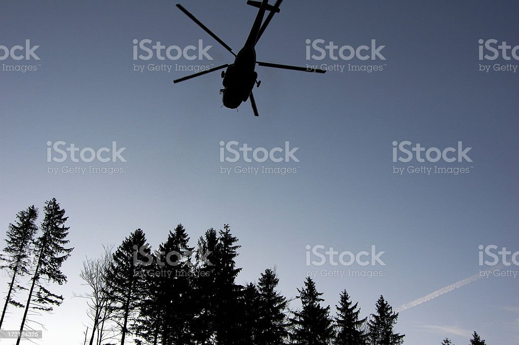 Transport helicopter stock photo