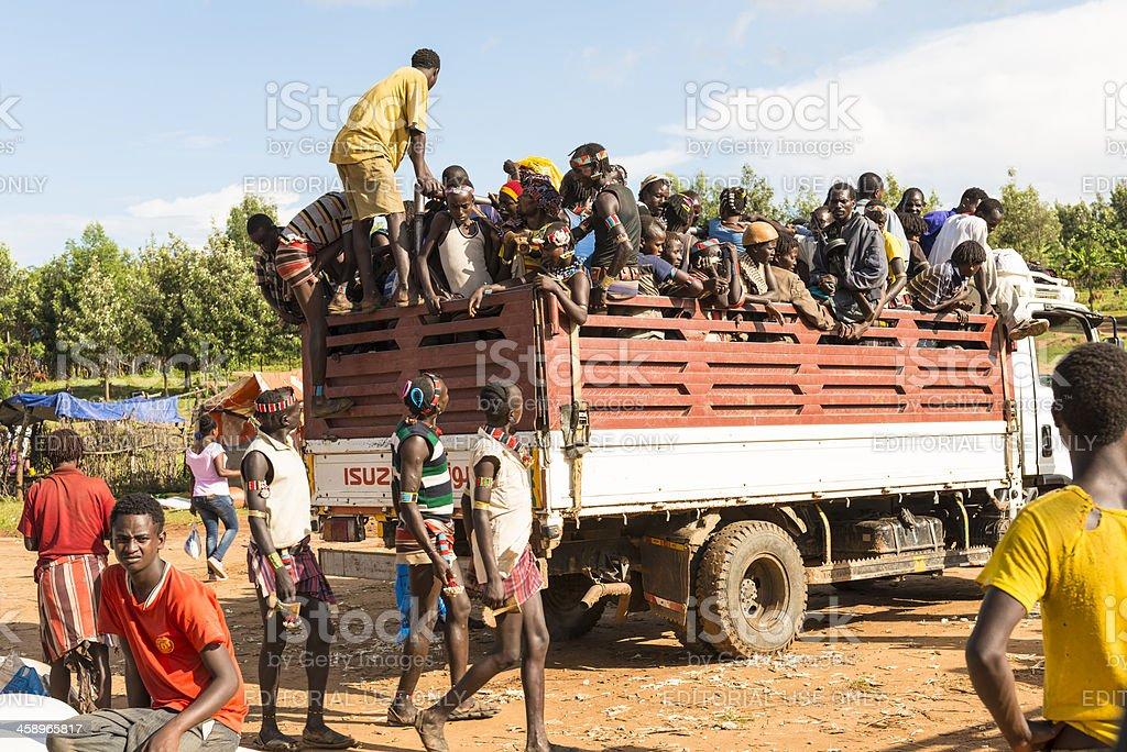 Transport in Ethiopia stock photo
