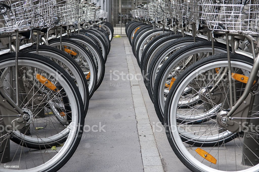 Transport in Paris-France stock photo