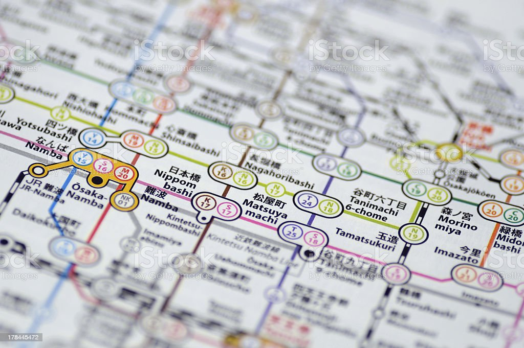 Transport Map stock photo