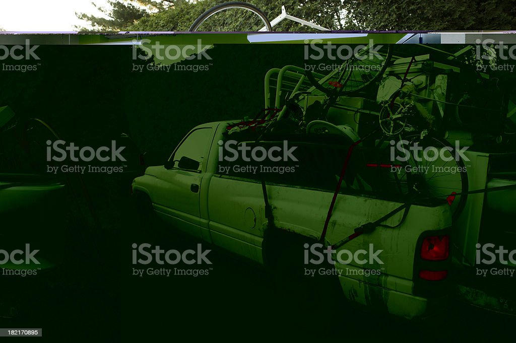 transport of scrap metal and iron royalty-free stock photo