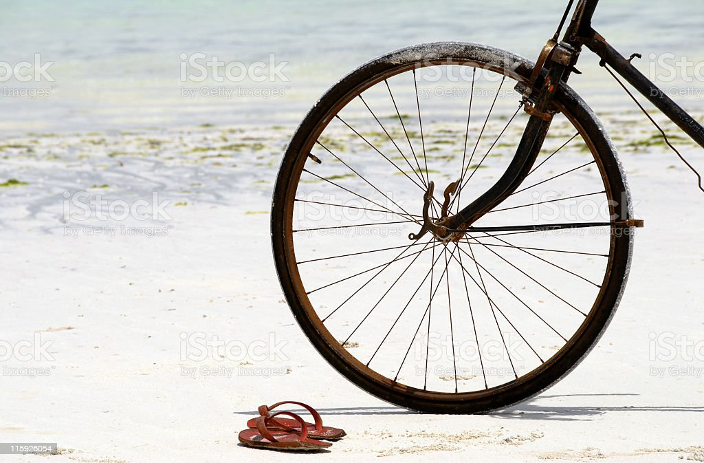 Transport on the beach royalty-free stock photo