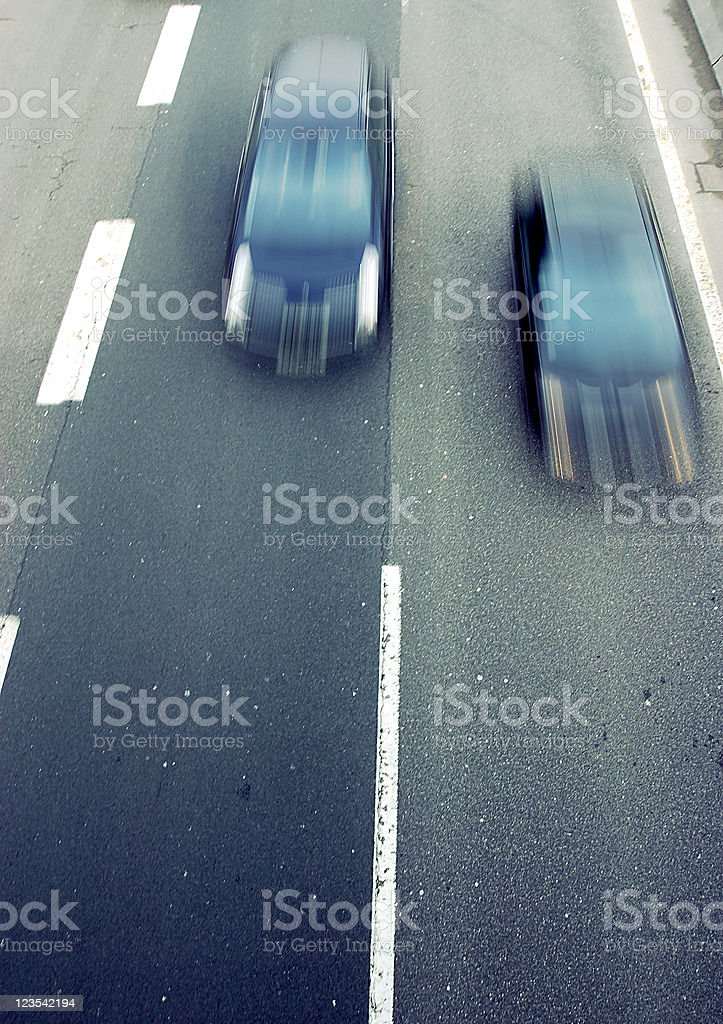 Transport - overtaking royalty-free stock photo