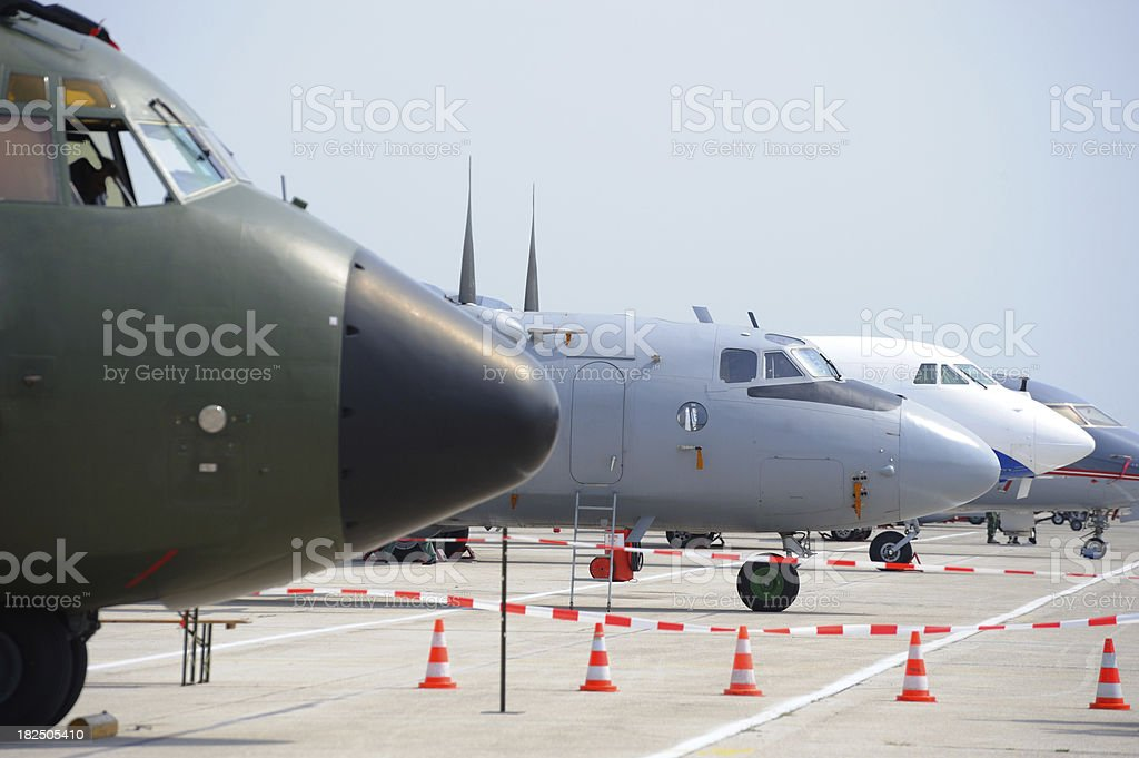 transport planes royalty-free stock photo