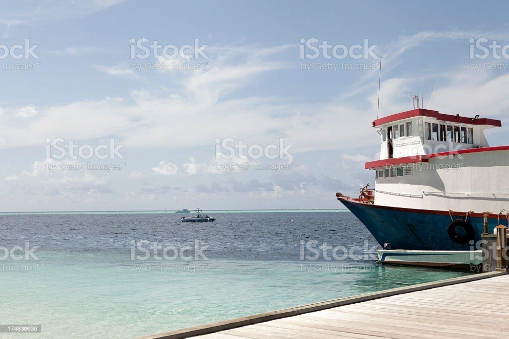 Transport ship royalty-free stock photo