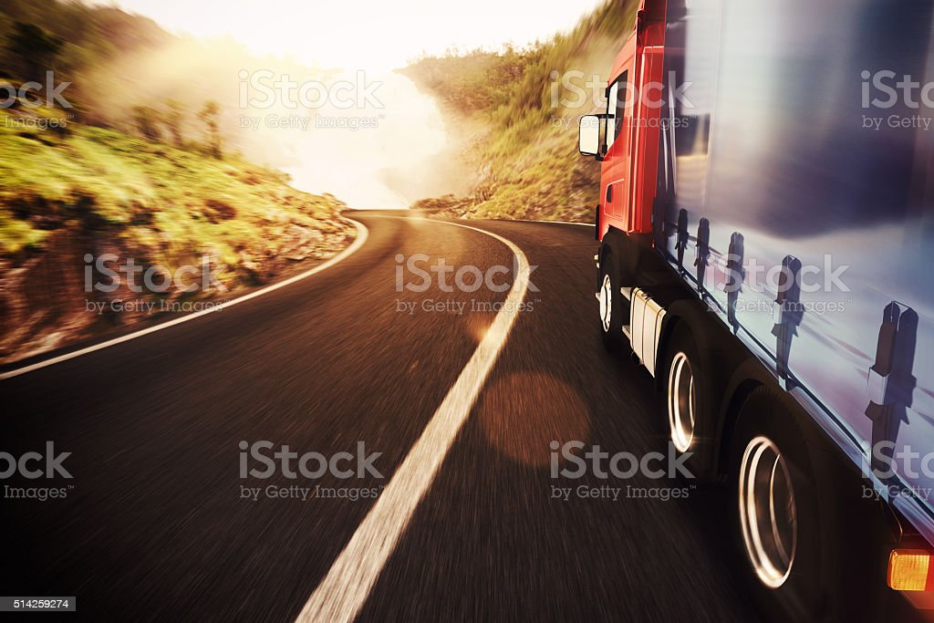 Transport truck stock photo