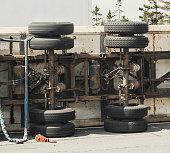 Transport Truck Rollover