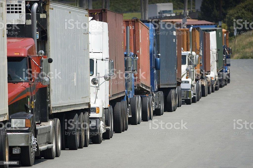 Transport Trucks royalty-free stock photo