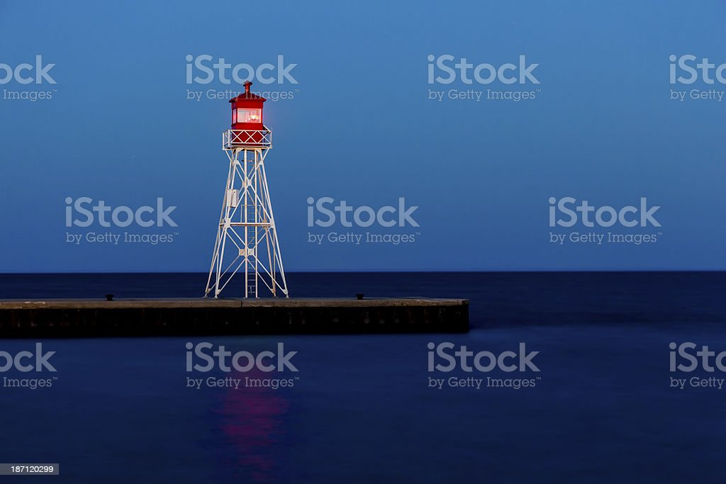Transporte beacon no Lago Erie-farol foto royalty-free