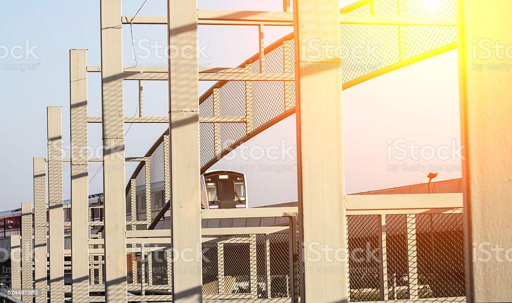 Transportation by rail stock photo