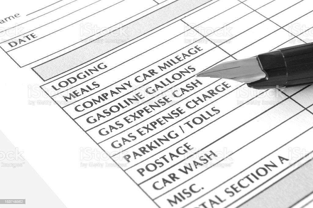Transportation expense form royalty-free stock photo
