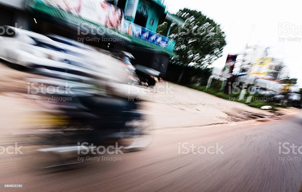 Transportation. Fast motorcycle on the road. stock photo