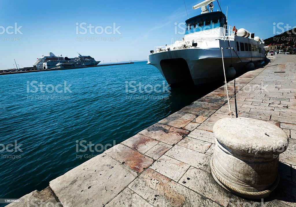 Transportation Ferryboat royalty-free stock photo