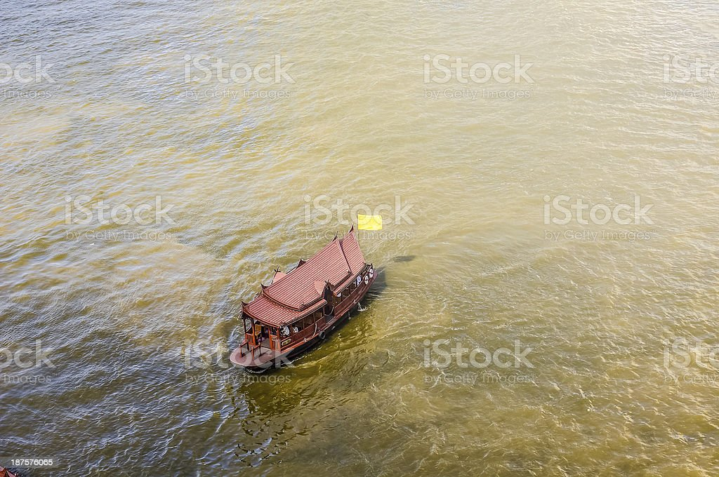 Transportation in Chaopraya River, Bangkok royalty-free stock photo