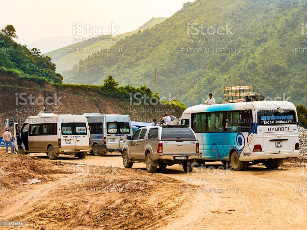 Transportation in Sapa, Vietnam stock photo