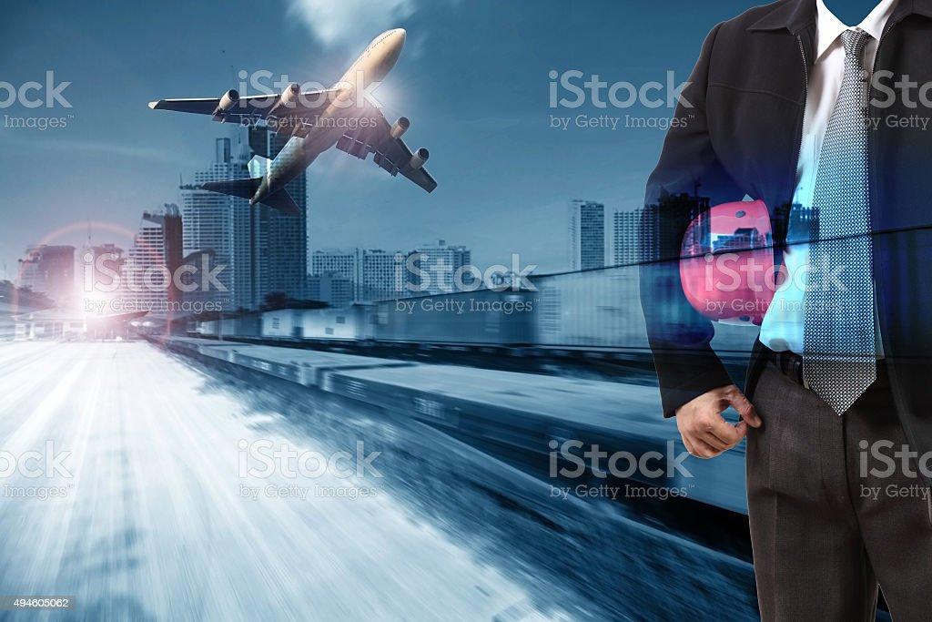 transportation industry background stock photo