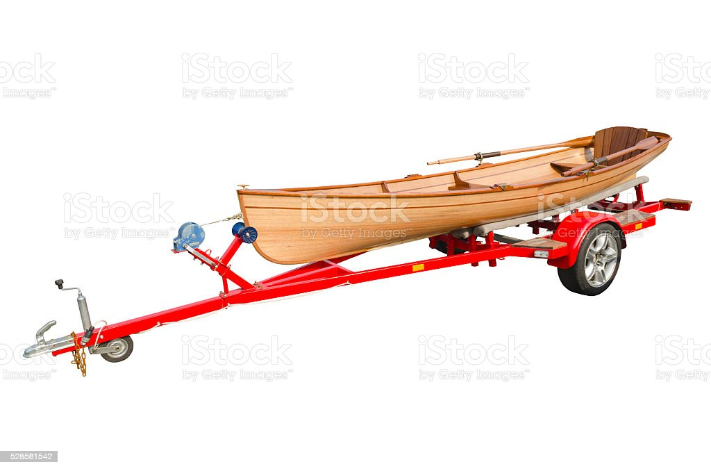 Transportation of boats stock photo